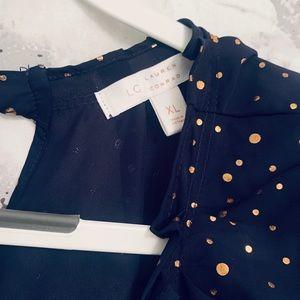 LC polka dot blouse